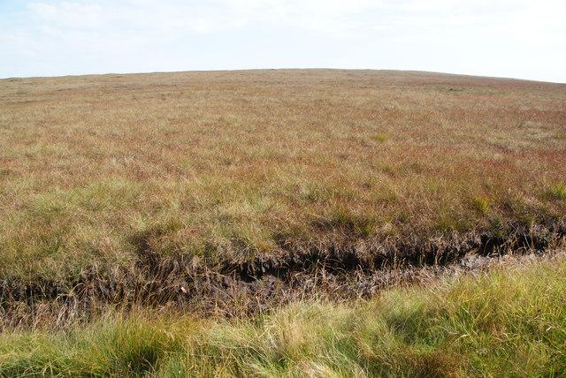 Smooth moorland below Whetstone Ridge