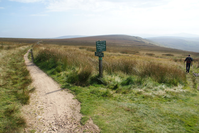 Path junction on Whetstone Ridge
