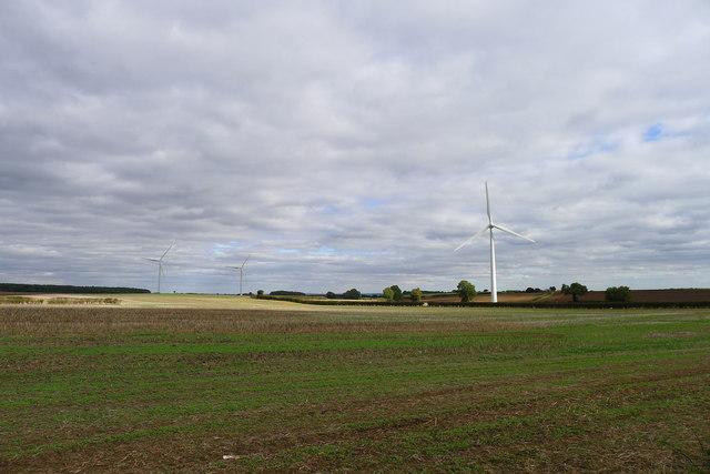 Wind turbines on Loscar Common