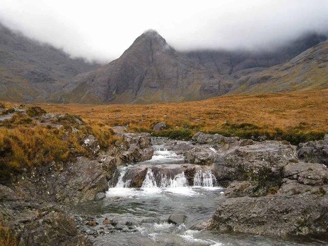 Waterfall in Allt Coir' a' Mhadaidh