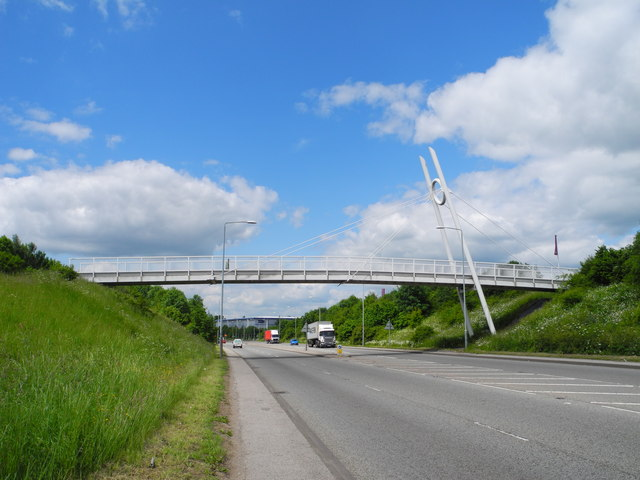 Footbridge over the A38 Kings Road, Sutton in Ashfield