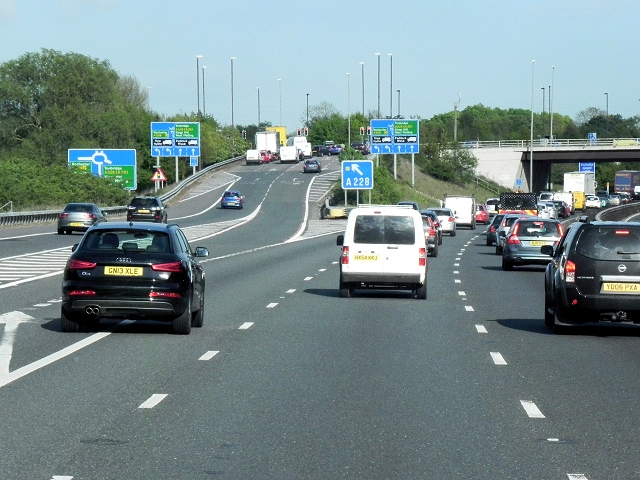 Southbound M20, Junction 4