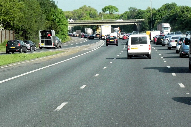 Southbound M20, Entry Sliproad at Junction 4