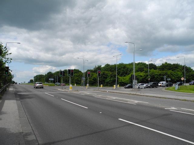 A38/B6023 junction, Sutton in Ashfield