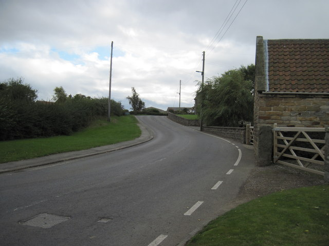 Liverton  village  looking  south  on  Liverton  Road