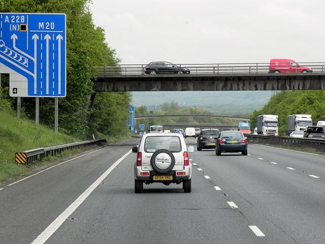 New Hythe Lane Bridge over the M20