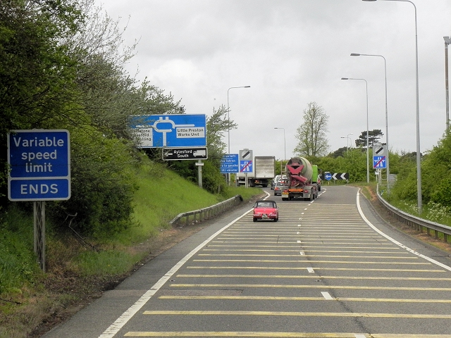 M20, Sliproad to the A20 at Junction 5