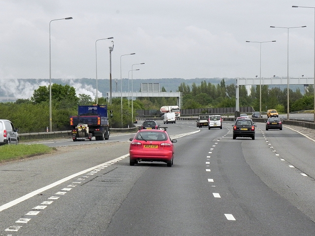 Northbound M20, Entry Sliproad at Junction 5