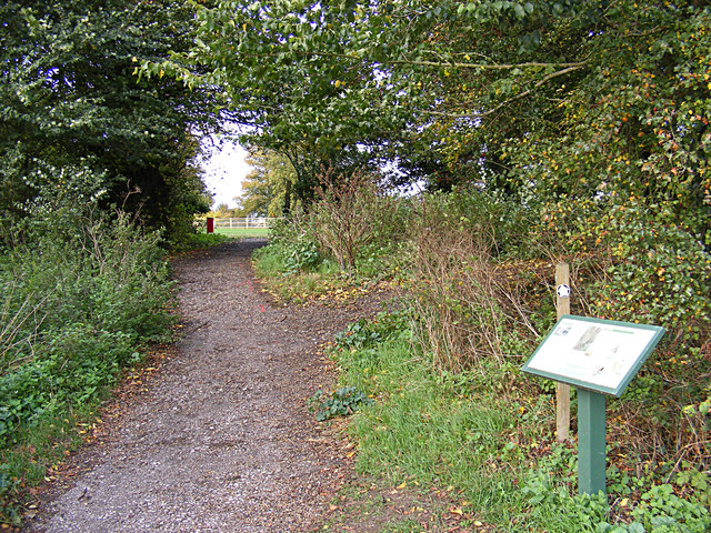 Footpath to Carlton Church & Information Board