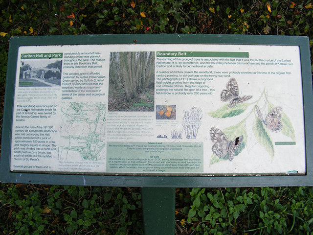 Information Board on the footpath