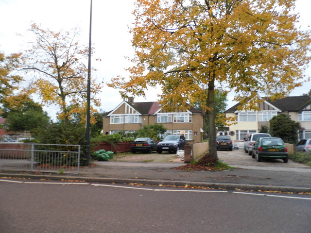 Houses on Uxbridge Road, Hanworth