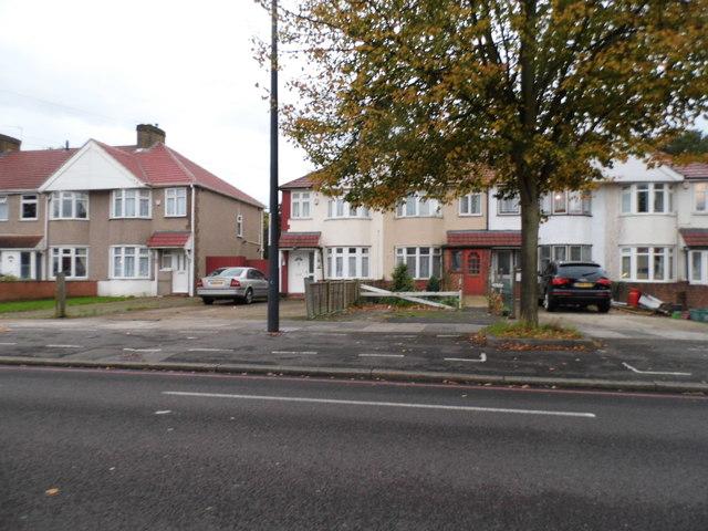 Houses on Uxbridge Road, Hanworth
