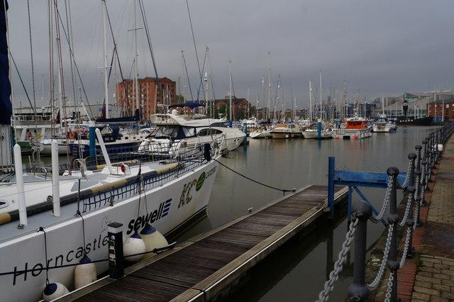Boats in the Hull Marina