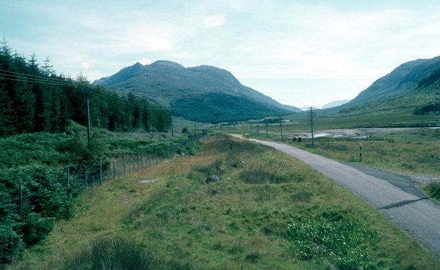 A861 heading through Glen Tarbert towards Ardgour