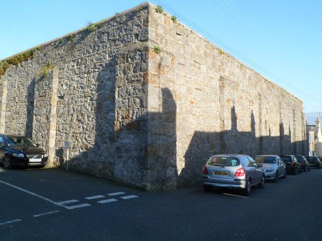 Shadows on a prison wall, Beaumaris