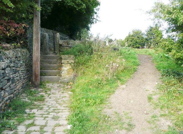 Steps and stile on Elland FP36