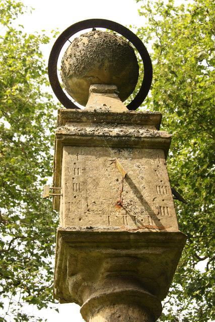 Sundial in Holy Rood churchyard