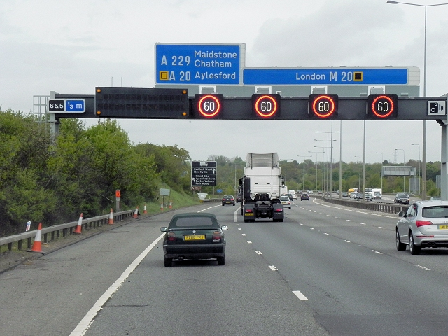 Active Traffic Management, Northbound M20 near Boxley