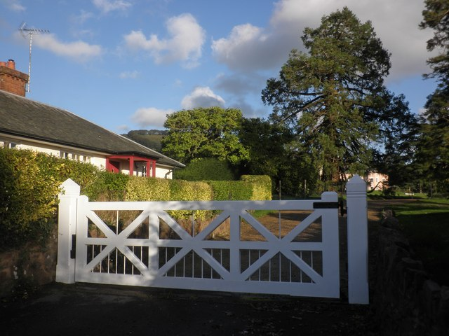 Lodge and gate, Triscombe House