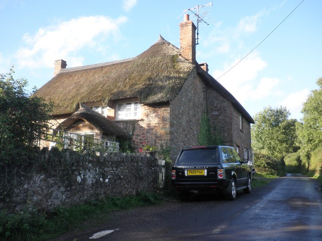 Thatched cottage on the road to Triscombe