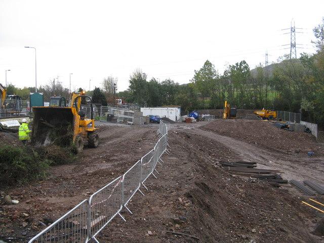 Site clearance at Fairmilehead