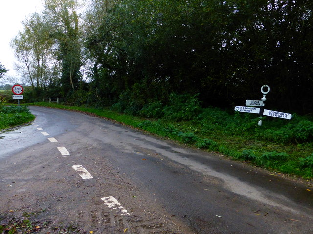 Junction of Selham and New Roads at South Ambersham
