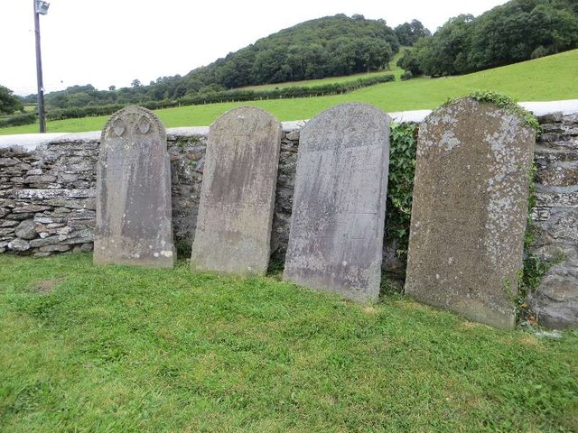 Headstones on the wall
