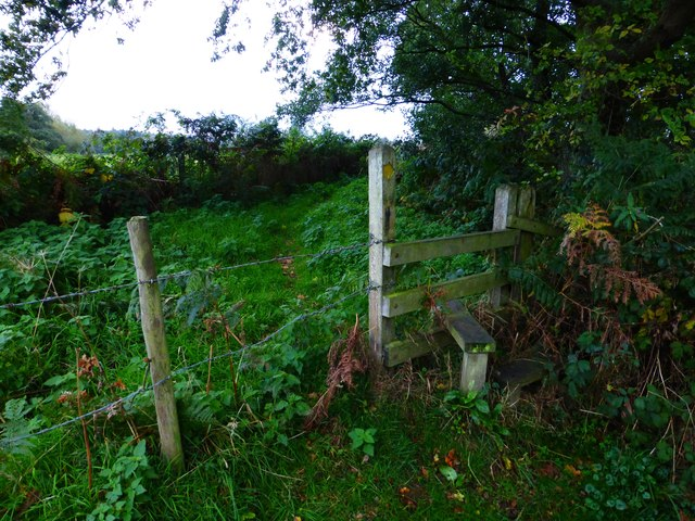 Stile before bend on path by the River Rother near South Ambersham