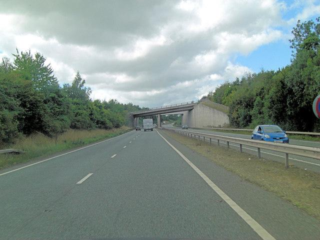 A5 overbridge carries Nobold Lane