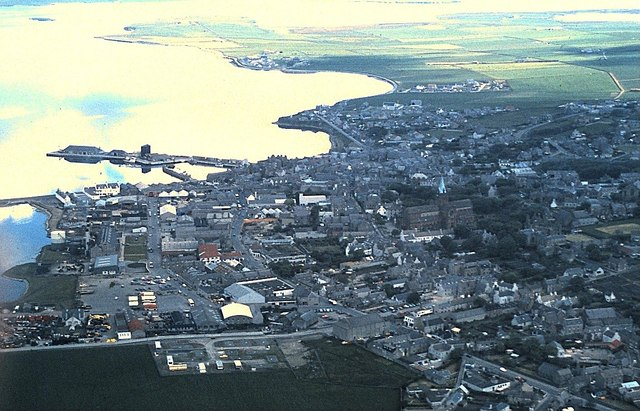 Kirkwall from the air (1980)