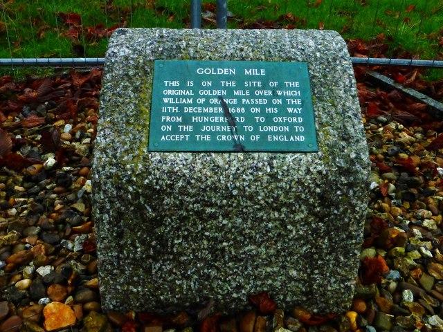 Golden Mile Commemorative Stone