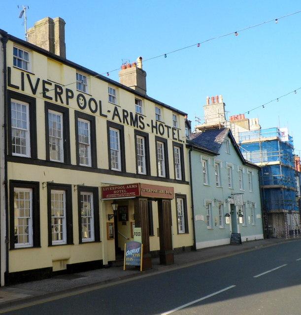 Grade II* listed Liverpool Arms Hotel, Beaumaris