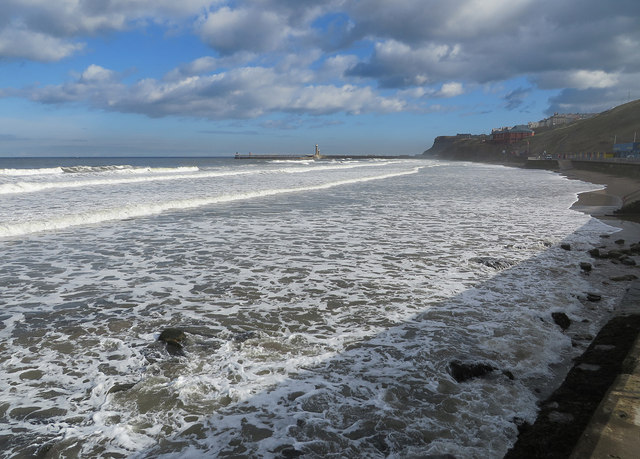 A lively sea at Whitby