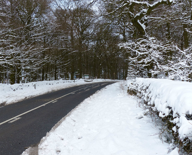 Beacon Road in the snow