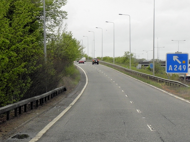 Exit Sliproad, M20 Junction 7