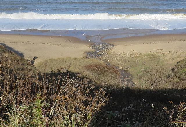 Becks running into the North Sea