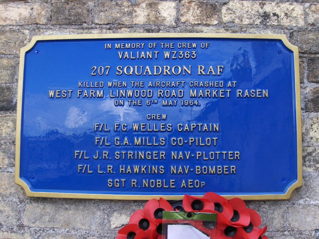 Memorial at Market Rasen Railway Stn