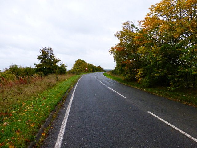 Bend on the A417 near West Hagbourne
