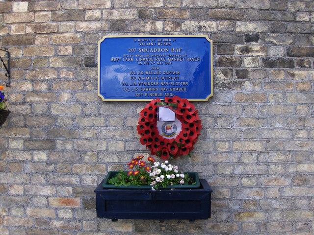 Memorial at Market Rasen railway station