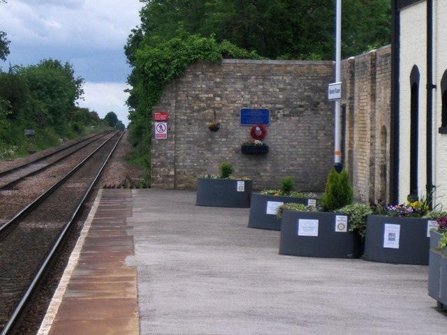 Memorial at Market Rasen railway station