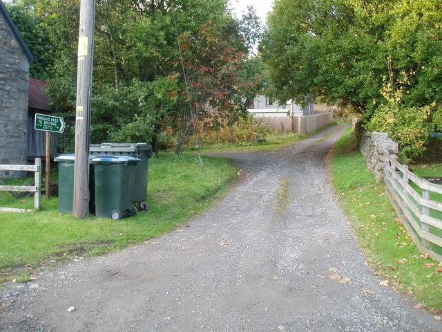 Path at Calvine to Bruar Lodge