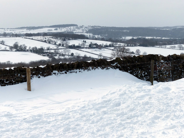Drifting snow at Beacon Hill Country Park