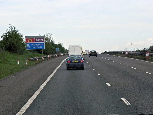 Southbound M20 near Maidstone Services