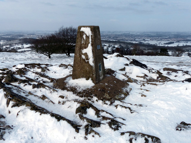 Triangulation pillar at Beacon Hill