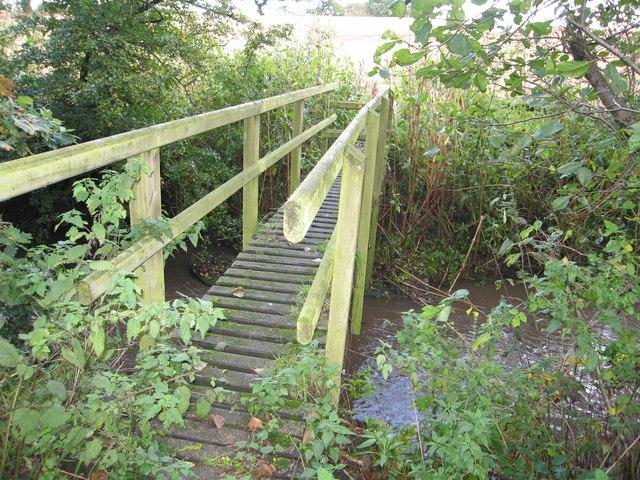 Footbridge over Waterless Brook