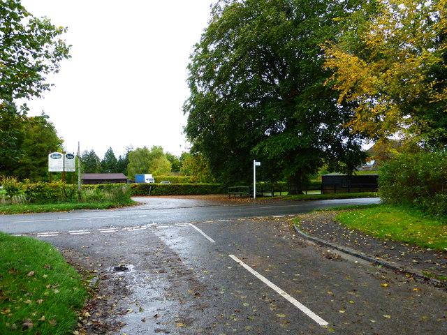 Junction of Boham's and London Roads in Blewbury