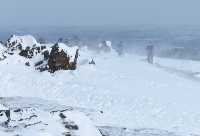 Blizzard like conditions at the summit