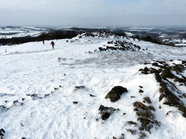 The frozen summit of Beacon Hill
