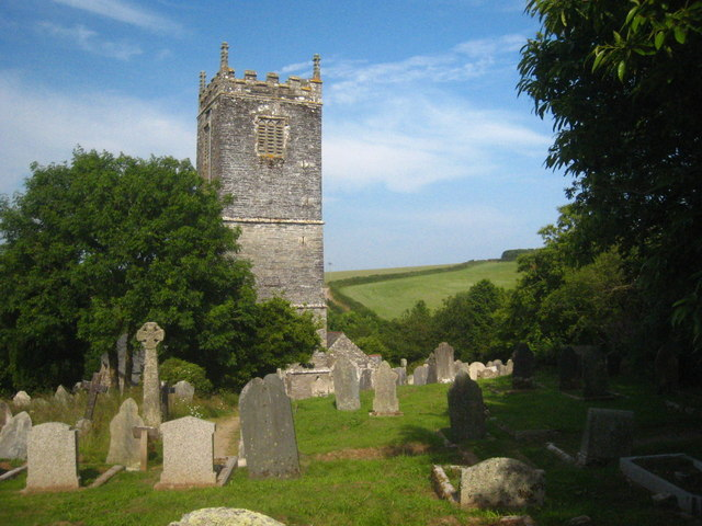 The tower of St Wyllow Church, Lanteglos-by-Fowey