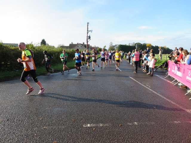 Runners in the first Yorkshire Marathon